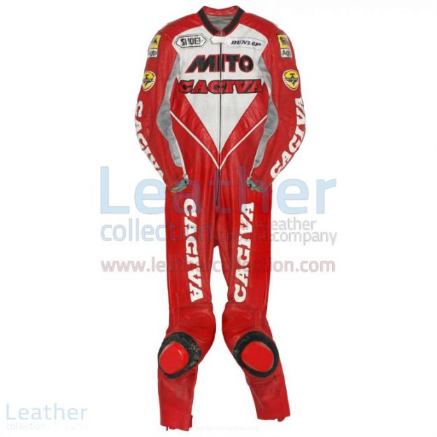 Grab Now Eddie Lawson Cagiva 1992 Motorcycle Suit for $899.00