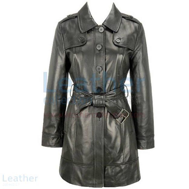 Pick up Leather 3/4 Length Asymmetrical Coat for SEK2,631.20 in Sweden