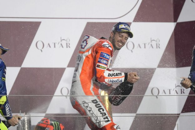 Andrea Dovizioso held the lead for much of the race but finished second