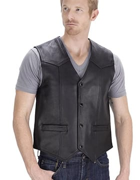 Leather Vest Mens – Leather Vest for Men