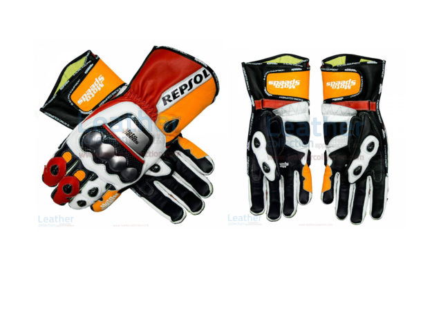 REPSOL LEATHER MOTORCYCLE GLOVES
