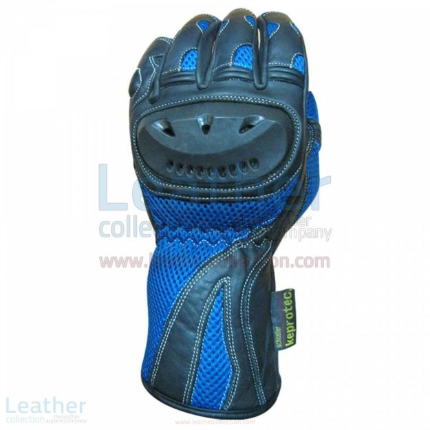 BLUE SHADOW MOTORCYCLE RACING GLOVES