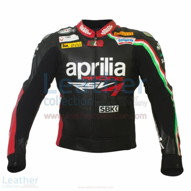 Max Biaggi Aprilia Motorbike Leather Jacket