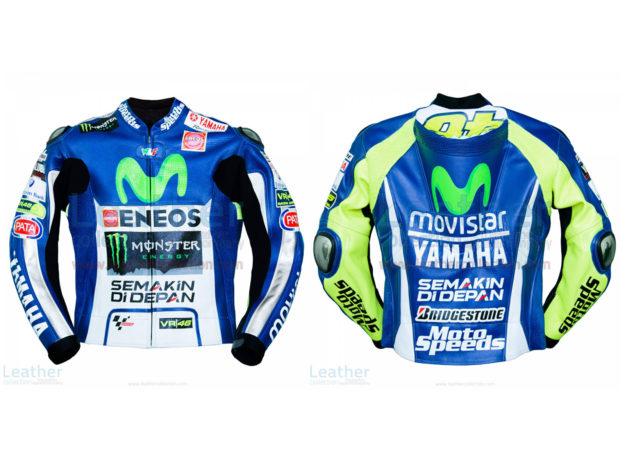 Valentino Rossi Movistar Yamaha 2015 MotoGP Leather Jacket