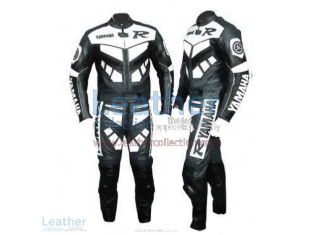 Yamaha R Racing Leather Suit Gun Metal