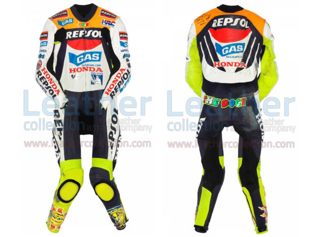 Valentino Rossi Honda MotoGP 2002 Leather Suit