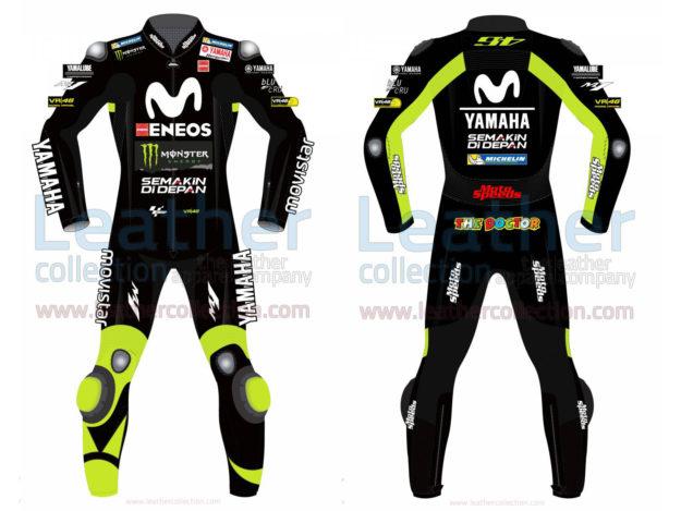 Valentino Rossi Movistar Yamaha 2018 Suit in Black
