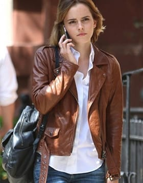 Celebrity leather jackets women