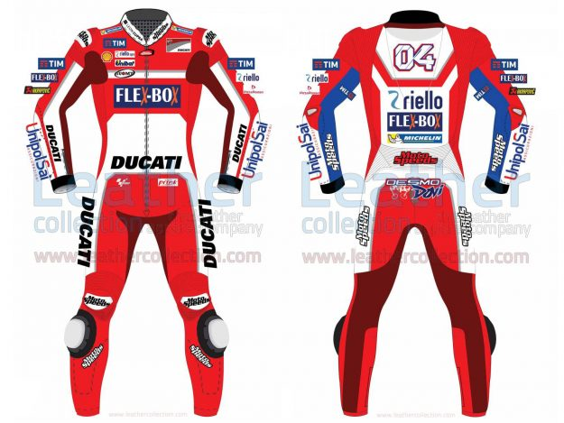 Andrea Dovizioso Ducati MotoGP 2017 Leather Suit